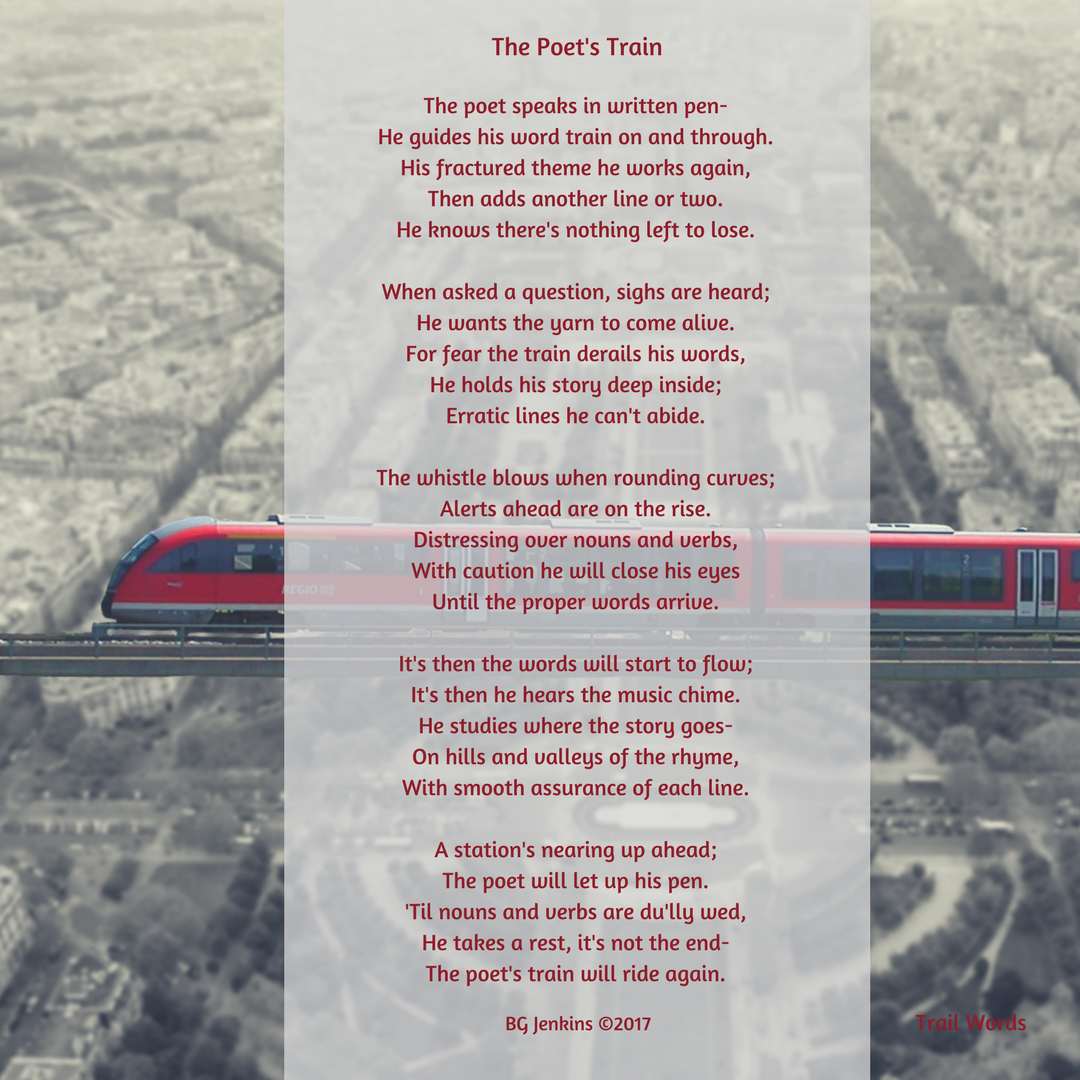 The Poet S Train Trail Words